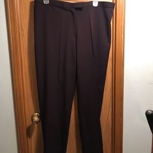 Madison Ave plus size  PLUM colored business pants